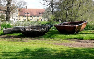 ancient boats at Michelham