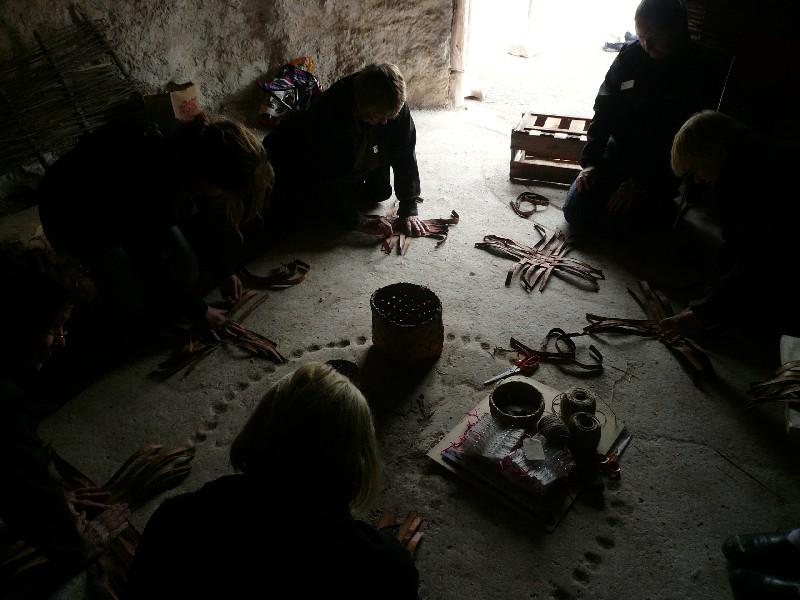 Stonehenge Neolithic hut basketmaking