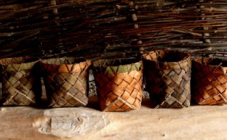 neolithic style willow baskets