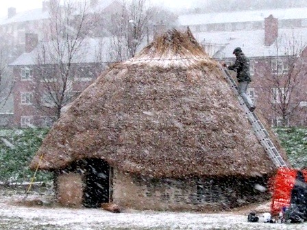 thatching neolithic house