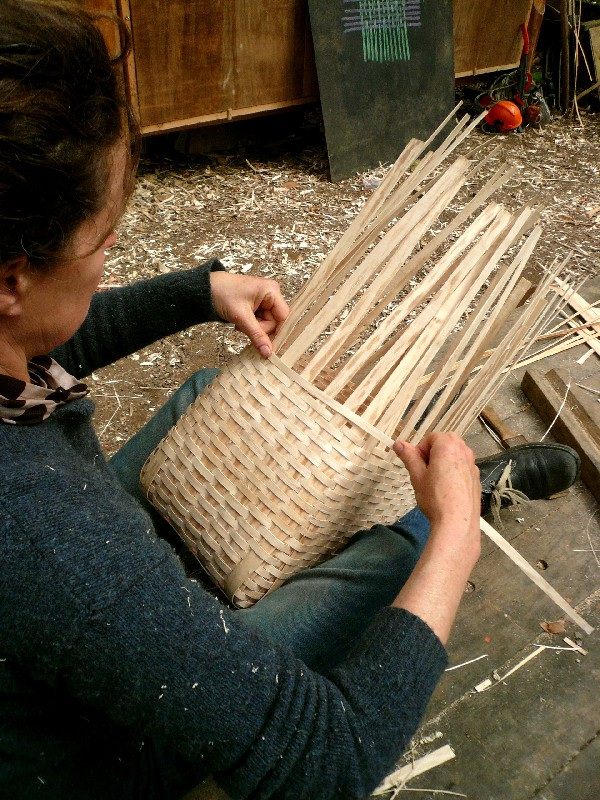 weaving ash pack basket
