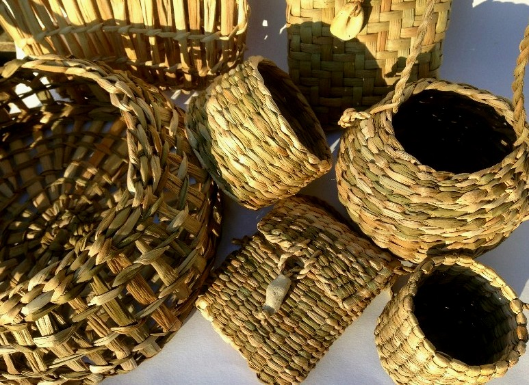 reed mace (bulrush) basket course sussex